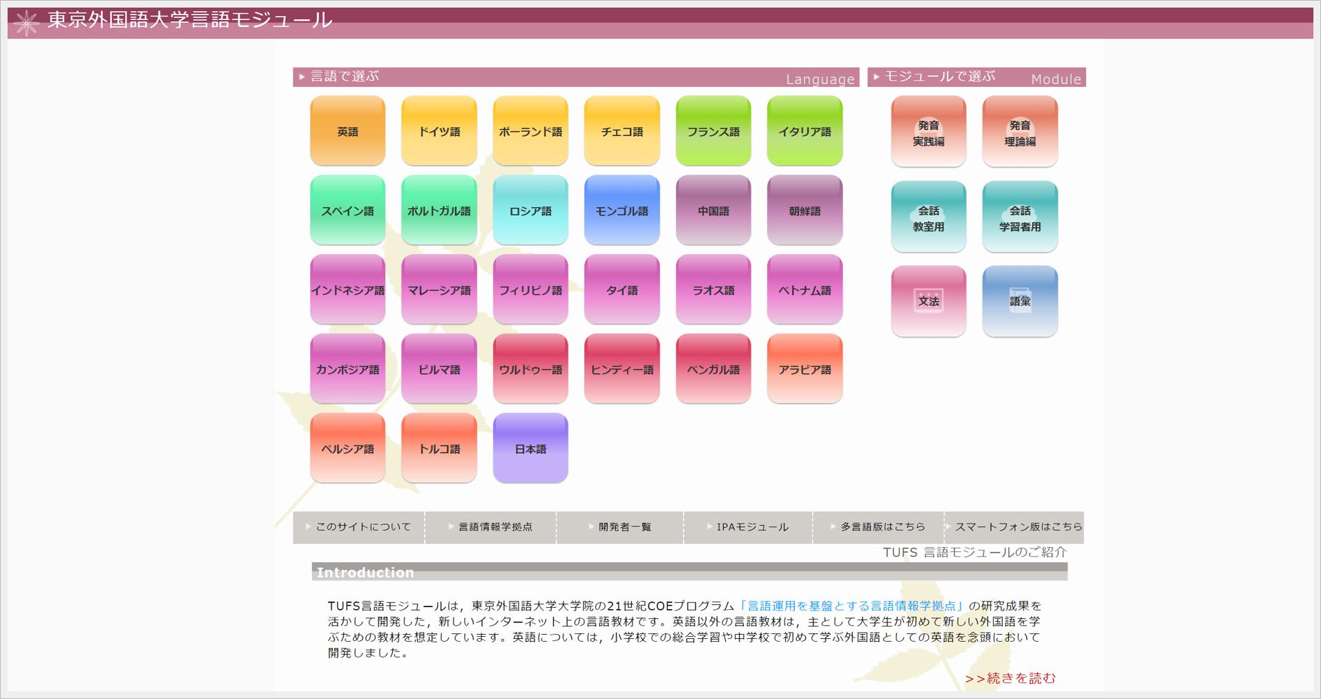中国語の学習者ならぜひ活用を!「東京外大の言語モジュール」